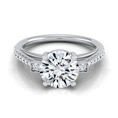 14k White Gold 1 1/3ct TDW Diamond IGI-certified Engagement Ring ( H-I, VS1-VS2) (Size - 12), Women's