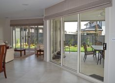Roman Blinds for larger areas with the headrail system