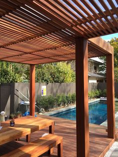 The pergola you choose will probably set the tone for your outdoor living space, so you will want to choose a pergola that matches your personal style as closely as possible. The style and design of your PerGola are based on personal Timber, Garden Design, Deck With Pergola, Recycle Timber, Ironwood, Timber Pergola