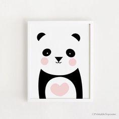 Poster bebe INSTANT DOWNLOAD Cute Panda graphic par ARTsopoomc