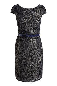 lace shift dress with belt