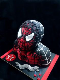Black spiderman cakes - photo#10