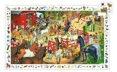 Trencaclosques cavalls. 200 peces. Per 6 - 8 anys. Inlou un poster i joc d'observació.