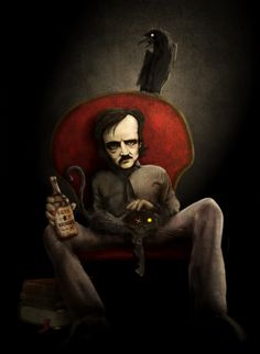 """Edgar Allan Poe by Disezno on DeviantArt - """"I became insane, with long intervals of horrible sanity."""""""