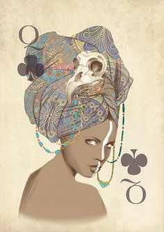 Illustrated playing cards. Designed by Marisa Jimenez Artist