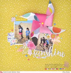 Sunshine and Fun Layout by Flóra Farkas | @paigeevans @pinkpaislee #scrapbooking