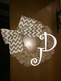 Initial wreath on Etsy, $45.00
