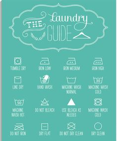 Laundry guide