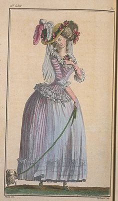A Most Beguiling Accomplishment: 1780s style. Fashion plate  c.1786