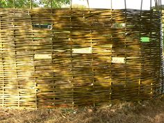 willow bird hide with holes at different heights