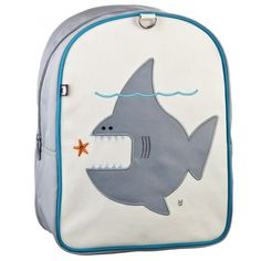 Nigel the Shark Little Kid Backpack by beatrix new york. 'Cause being small doesn't mean you don't have gear!
