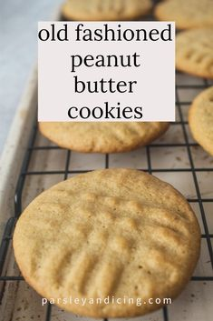 Make this recipe for quick, easy Old Fashioned Peanut Butter Cookies for the best homemade cookies! They are perfectly chewy and have the most amazing peanut butter flavor! Best Peanut Butter Cookies, Peanut Better Cookies, Peanut Butter Cookie Recipes, Old Fashioned Peanut Butter Cookies Recipe, Easy Homemade Cookie Recipes, Best Butter, Fondant, Köstliche Desserts, Yummy Cookies
