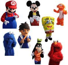 KIDFLATABLES Party Characters are Perfect for your child's next birthday party!!! #SpongeBob #SuperMarioBros #SesameStreet #YoGabbaGabba #MickeyMouse #GoDiegoGo #WinnieThePooh #ToyStory #DoraTheExplorer