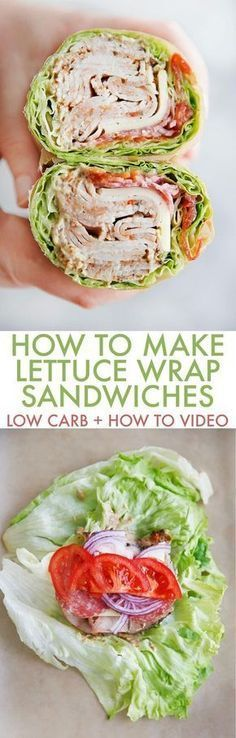 Ever wonder how to make a lettuce wrap sandwich? These easy lettuce wraps are the perfect low carb, keto, and healthy sandwich without the bread! Everybody loves these lettuce sandwich wraps!keto diet r Paleo Recipes, Low Carb Recipes, Cooking Recipes, Bariatric Recipes, Sausage Recipes, Ketogenic Recipes, Mexican Recipes, Clean Recipes, Grilling Recipes