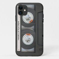 Custom Cassette Mixtape Case-Mate iPhone Case Vintage Iphone Cases, New Iphone, Iphone Case Covers, Mixtape, 5s Cases, Steel Metal, Plastic Case, Cassette Tape, Fonts