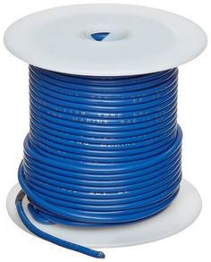 """GPT-M Automotive Copper Wire, Blue, 18 AWG, 0.0403"""" Diameter, 100' Length (Pack of 1) by Small Parts. $18.55. GPT-M  general purpose marine grade automotive blue color wire temp range -40 to 105 C"""