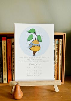 2014 Calendar for Desk or Wall Pears of the World by by AngryPear