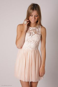 BACK IN STOCK tea party lace bodice cocktail dress - baby pink