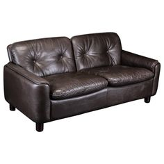 Vatne Møbler toSeater in Dark Brown Hide Leather. Sofa, Couch, Norway, Dark Brown, Modern Furniture, Mid Century, Leather, Design, Home Decor