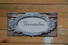 Ateljee Amnelin sisustusblogi!: Upeita ihania metallisia ovikylttejä