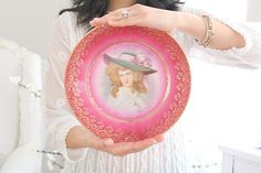 ARTIST SIGNED Porcelain Plate, Wall Decor, Downton Abbey Inspired Wall Plate
