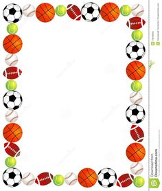 free sports balls scrapbook backgrounds - Google Search