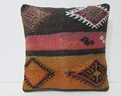 kilim pillow rustic throw pillow 16x16 tuscan home decor embroidery pillow sham couch pillow cover pillow slip cover bed cushion cover 24724