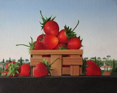 Available for sale from Clark Gallery, James Aponovich, A Small Basket of Strawberries, Week Oil on canvas, 8 × 10 in Watermelon Basket, Make Money On Amazon, Globe Art, Apple Art, Still Life Fruit, Holiday Deals, Amazon Gifts, Amazon Art, Pansies