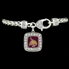 Texas State Bobcats Square Clasp Bracelet