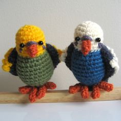 Crochet Amugrumi | Amigurumi Crochet Budgie Pattern by MsPremiseConclusion on Etsy