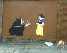 MONSANTO EVIL WITCH WITH SNOW WHITE