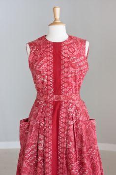 Belted batik dress...