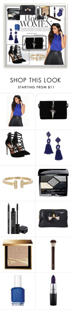 """""""Wonder women"""" by sadeta-v ❤ liked on Polyvore featuring Cesare Paciotti, Steve Madden, BaubleBar, Loren Stewart, Christian Dior, Rodial, Ted Baker, Burberry, Essie and MAC Cosmetics"""