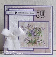 Anja Zom kaartenblog Art Pad, Marianne Design Cards, Hunkydory Crafts, Vintage Scrapbook, 3d Cards, Pretty Cards, Halloween Cards, Flower Cards, Vintage Cards