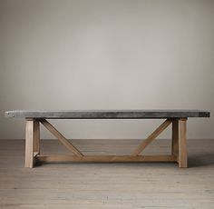 "Salvaged Wood & Concrete Beam Rectangular Dining Table - 108""L x 40""W x 30""H - salvaged wood and galvanized top - $3649 SALE - $100 shipping charge"