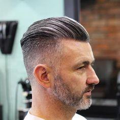Slick Back Haircut Ideas 2020 20 Trendy Slicked Back Hair Styles Popular Haircuts, Cool Haircuts, Haircuts For Men, Stylish Mens Haircuts, Choppy Bob Haircuts, Slick Hairstyles, Undercut Hairstyles, Mens Grey Hairstyles, Hairstyle Fade