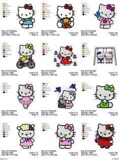 Machine Embroidery Designs Hello Kitty by TheEmbroideryFairy
