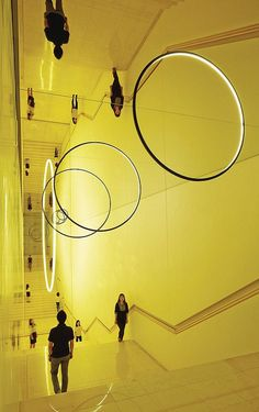 'Stairs of Gravity' Light and mirror installation by Studio Olafur Eliasson. The Museum of Art in Seoul