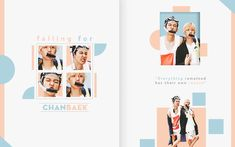 happy 350 watchers // falling for chanbaek by Graphic Artwork, Graphic Design Posters, Aesthetic Photo, Pink Aesthetic, Page Design, Book Design, Portfolio Design Books, Graduation Album, Thumbnail Design