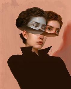 Románticas ilustraciones surrealistas del artista digital Aykut Aydogdu