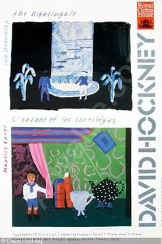 Artwork by David Hockney, 3 Works: The Nightingale and L'Enfant et les Sortileges ; Los Angeles Music Center Opera, Made of Offset lithographic posters in colors on wove paper David Hockney, Kunst Poster, Opus, Sale Poster, London, Painting & Drawing, Opera House, Original Art, Fine Art Prints