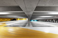 One of the many parking garages in The Underground City Parking Building, Parking Lot, Car Parking, Parking Space, Car Park Design, Parking Design, Architecture Details, Landscape Architecture, Interior Architecture