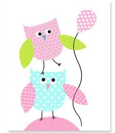 https://www.etsy.com/es/listing/185213586/nursery-art-print-owls-aqua-green-pink?ref=related-4