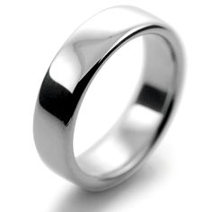 Platinum Wedding Rings Slight or Soft Court Heavy - 6mm