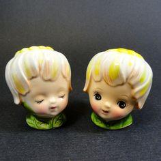 Vintage Lefton Thumbelina Pixie Salt & Pepper Shakers http://www.rubylane.com/item/32692-SP-474/Vintage-Lefton-Thumbelina-Pix78ie-Salt