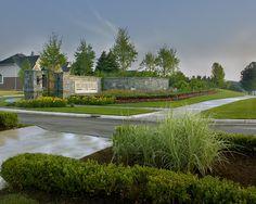 Pembrooke Park_Subdivision_Entrance_Landscape_West Bloomfield, MI by GreatOaksLandscapeMI, © GENE MEADOWS