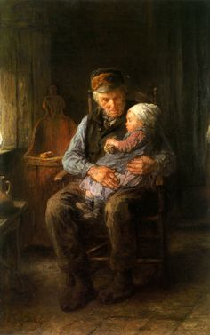 Jozef Israëls (Jozef Israels), In Grandfather's Arms