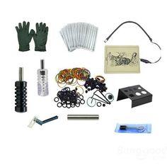 OPHIR Complete Tattoo Kit 2 Gun Machine 12 Colors Power Supply at Banggood