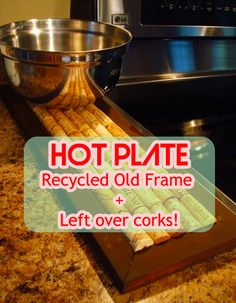 Hot Plate from Cork #upcycle