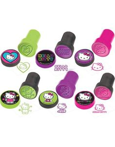 Neon Hello Kitty Stamps 6ct - Party City Canada